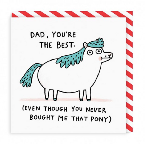 Dad Pony Square Greeting Card