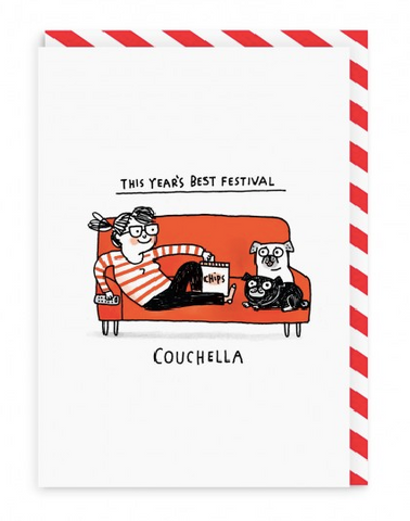 Couchella Greeting Card