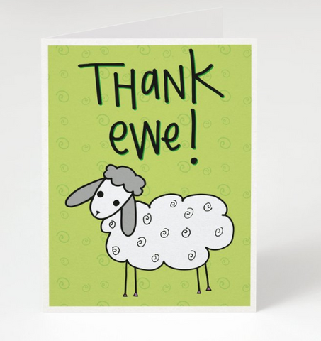 """Thank Ewe"" - Thank you card"
