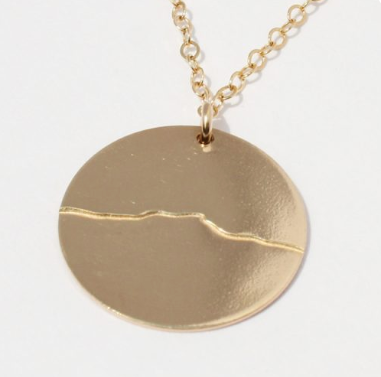 Camel's Hump GF Disc Necklace