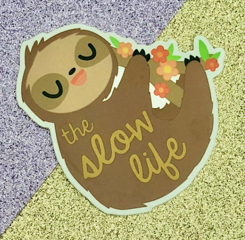 """The Slow Life"" Sloth Sticker"