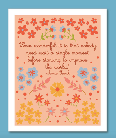 Anne Frank Quote Print