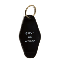 Grown Ass Woman Motel Key Tag