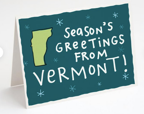 """Seasons Greetings From VT"" Card"