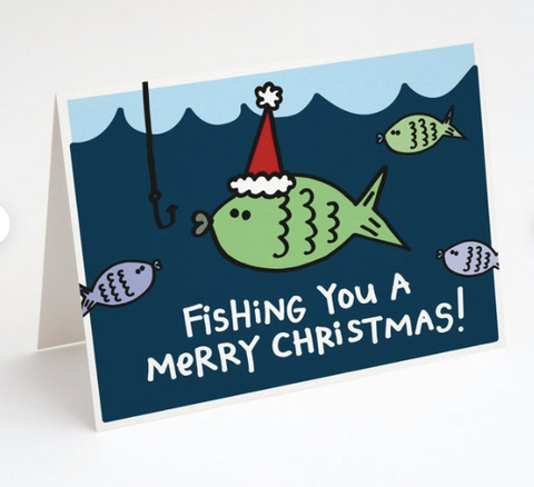 """Fishing You A Merry Christmas"" Card"