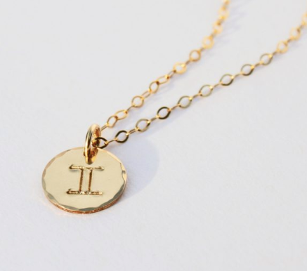 ZODIAC Charm GF Necklace 17""