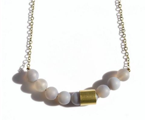 Movement & Sound Necklace - Agate