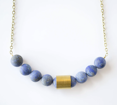 Movement & Sound Necklace - Sodalite