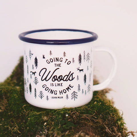 Going to the Woods Camping Mug 16oz