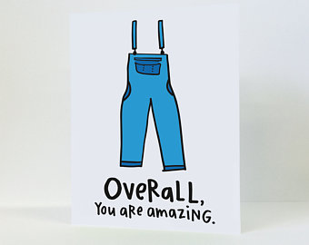 """Overall You Are Amazing"" - Everyday Card"