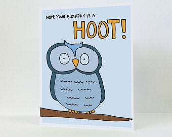 """Hope Your Birthday is a Hoot"" - Birthday Card"