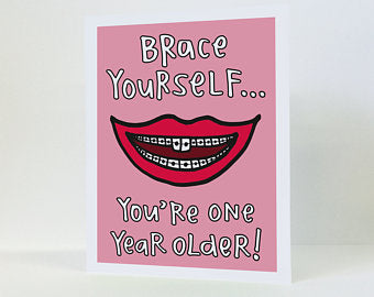 """Brace Yourself"" - Greeting Card"