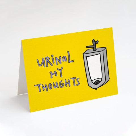 Urinal My Thoughts-Sorry, Sympathy card
