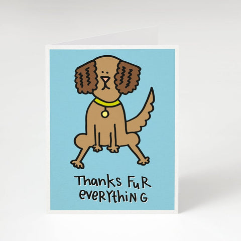 Thanks Fur Everything-Thank-You Card