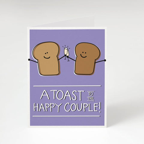 """A Toast to the Happy Couple""- Anniversary, Engagement, Wedding Card"