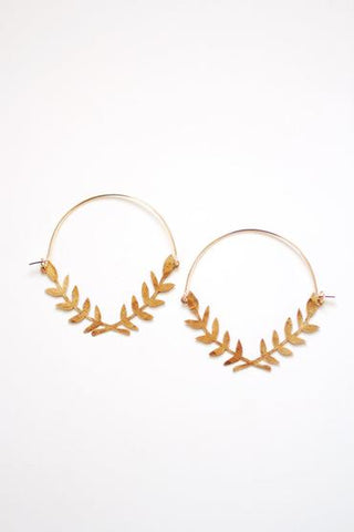 Laurel Wreath Hoop Earrings