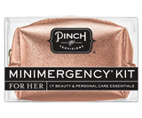 Minimergency Kit for Her Metallic Rose Gold Saffiano