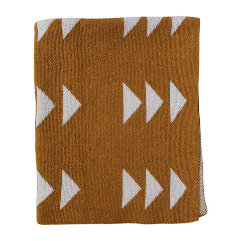 Triple Triangle Gold Throw Mini