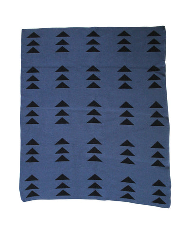 Triple Triangle Slate + Black Mini Throw Blanket