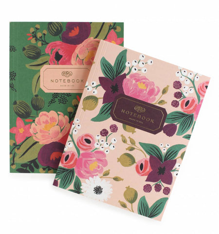 Pair of Two Vintage Blossoms Notebooks