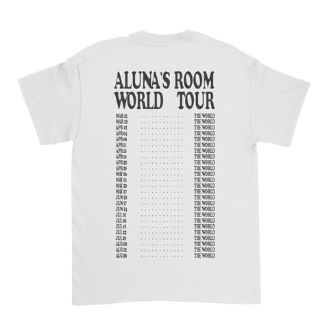 "Aluna - ""World Tour"" Tee (white)"