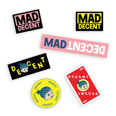 Mad Decent - 'Pip + Logo' Sticker Pack
