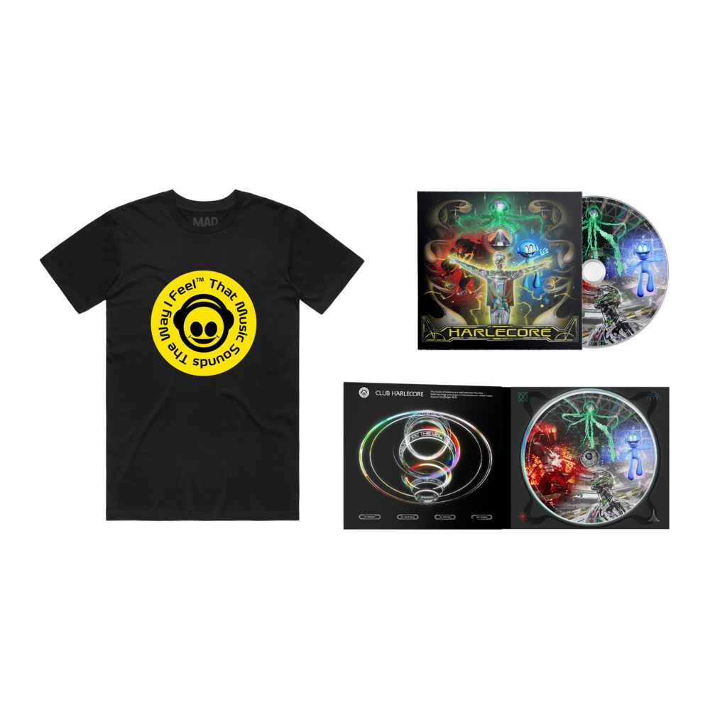 Danny L Harle - 'That Music Sounds The Way I Feel' Tee & CD Bundle