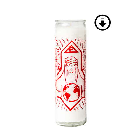 Poppy - Prayer Candle + Digital Download