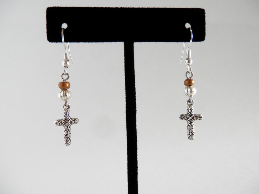 Daughters of Cambodia - Cross Earrings