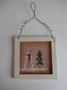 Winter Wall Hanging - Rustic Snowman