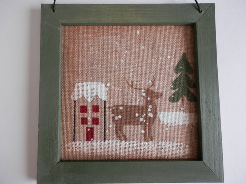 Winter Wall Hanging - Rustic Deer