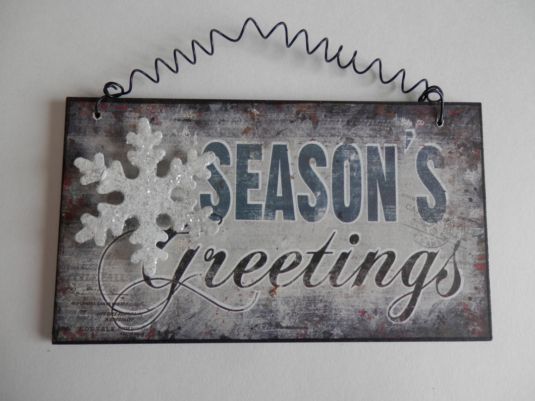 Winter Wall Hanging - Season's Greetings