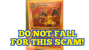 1st Edition Shadowless Charizard SCAM!  -  DO NOT FALL FOR THIS!