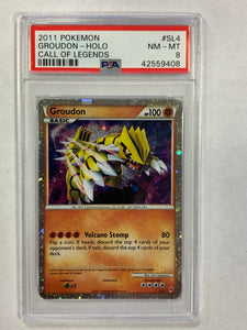 Pokemon PSA 8 Groudon SL4 Holo Call of Legends 2011 NM - Mint
