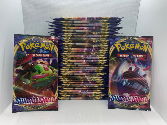 Pokemon Sword & Shield Base Set 36 Packs (Loose) All Sealed = 1 Box