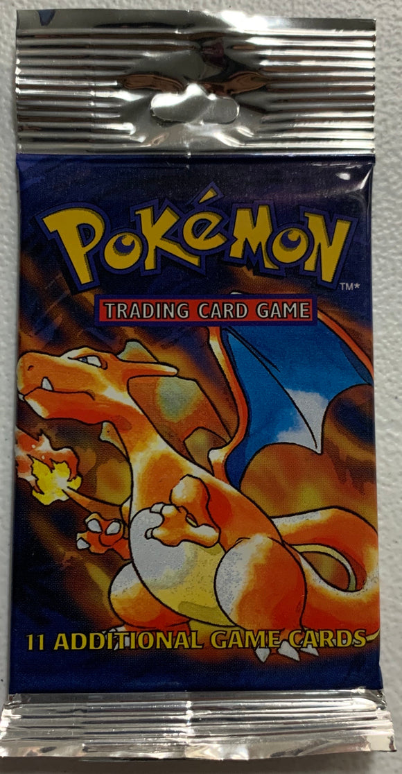 Pokemon Base Set Long Crimp Booster-Pack (Charizard Art)