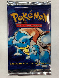 Pokemon *Spanish* Base Set 1st Edition Booster-Pack (Blastoise Artwork)
