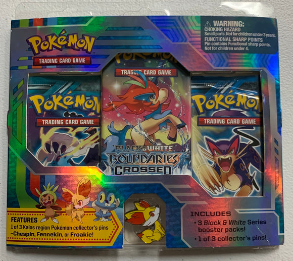Pokemon Black & White Plasma Freeze Storm Boundaries Crossed Blister 3 Booster-Packs Sealed
