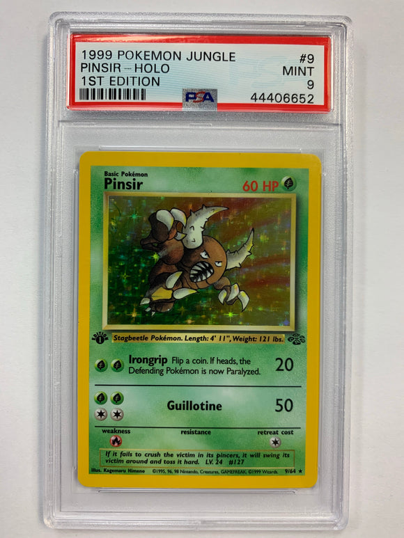 Pokemon PSA 9 Pinsir 9/64 1st Holo Jungle 1999 Mint