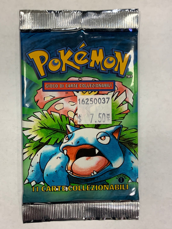 Pokemon *ITALIAN* Base Set 1st Edition Booster-Pack (Venusuar Artwork)