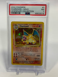 Pokemon PSA 7 Charizard 3/110 Holo Legendary Collection 2002 NM - Mint
