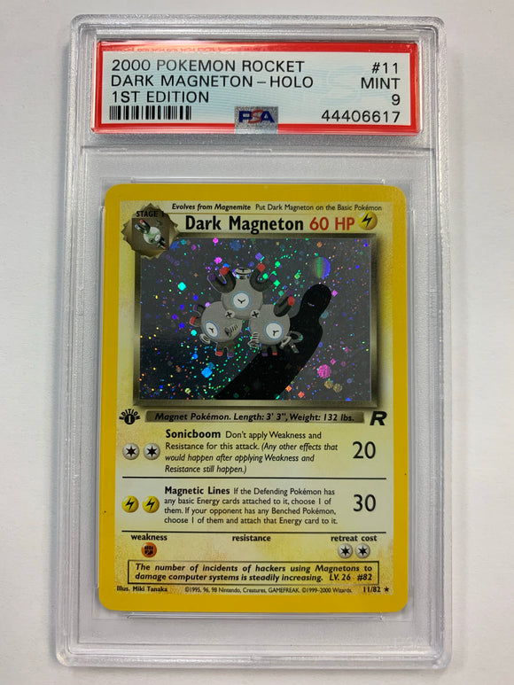 Pokemon PSA 9 Dark Magneton 11/82 1st Team Rocket 2000 Mint