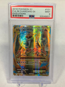Pokemon PSA 9 M Charizard Mega Full Art Evolutions 101/108 2016 Mint
