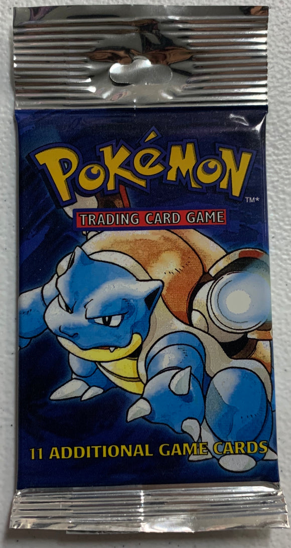 Pokemon Base Set Long Crimp Booster-Pack (Blastoise Art)