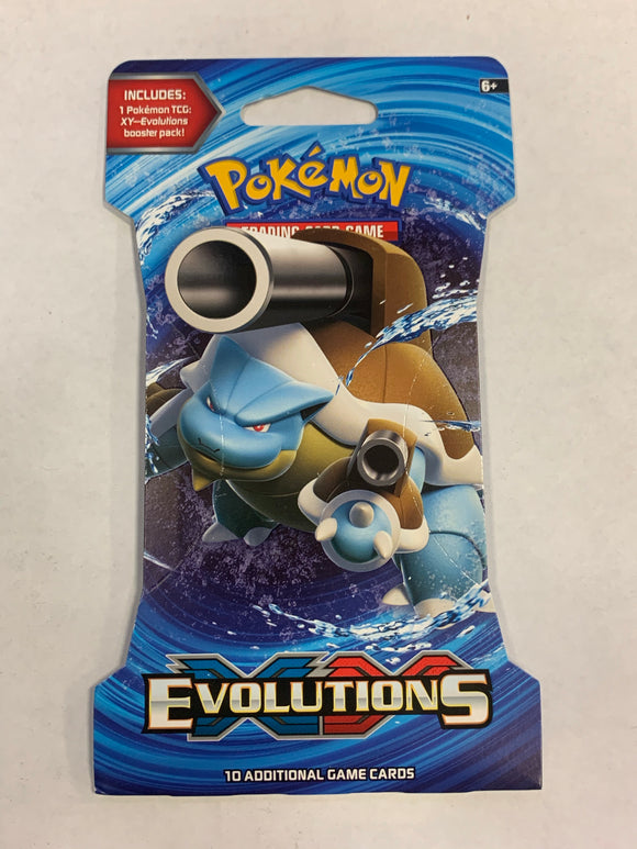 Pokemon XY Evolutions Blister Booster-Pack Sealed (Blastoise Artwork)