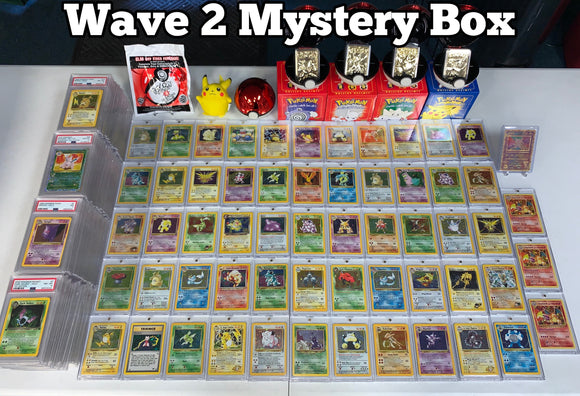 *WAVE 2* Vintage WOTC Mystery BOX!  Includes 1 PSA Card, 1 Vintage Holo, 1 Shadowless, 1st Editions, Sealed Promos, Collectibles & more!