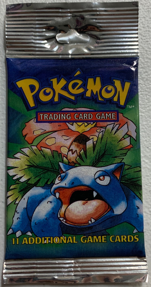 Pokemon Base Set Long Crimp Booster-Pack (Venusaur Art)
