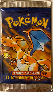 Pokemon Base Set 1st Edition Shadowless Booster-Pack (Charizard Art)