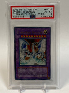Yugioh PSA 4 Cyber End Dragon CRV-EN036 1st Edition Ultra Rare Cyber Revolution 2005 VG/EX