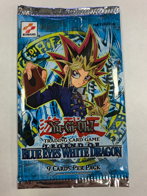 Yugioh Legend of Blue Eyes White Dragon Booster-Pack (1st Edition) Sealed